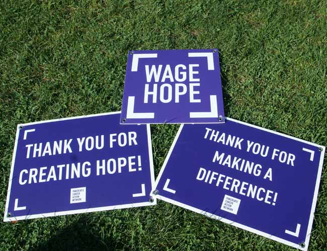 Wage Hope at PurpleStride. The walk to end pancreatic cancer.